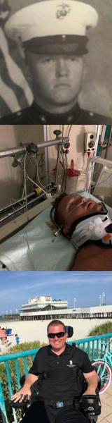 Quadriplegic veteran paralyzed