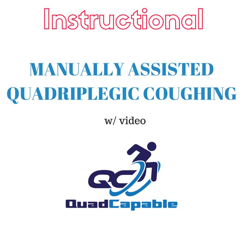Quadriplegic coughing manually assisted quad cough cough assist