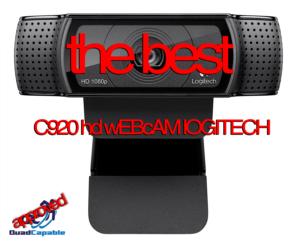 Best Entry Level Streaming Camera Web Logitech HD Pro Webcam C920-C922X
