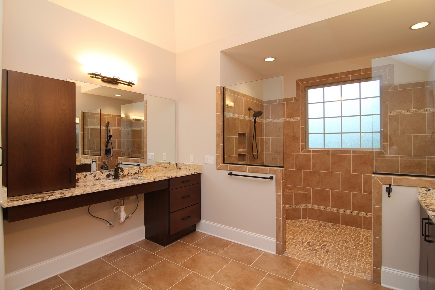 Example of a modified wheelchair accessible bathroom.
